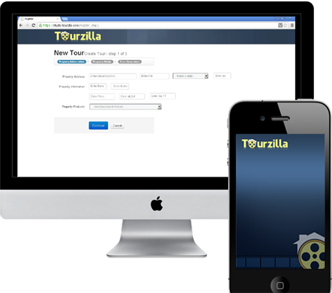 Tourzilla Web and Mobile Screen Snapshot - Real Estate Video Tour Solution